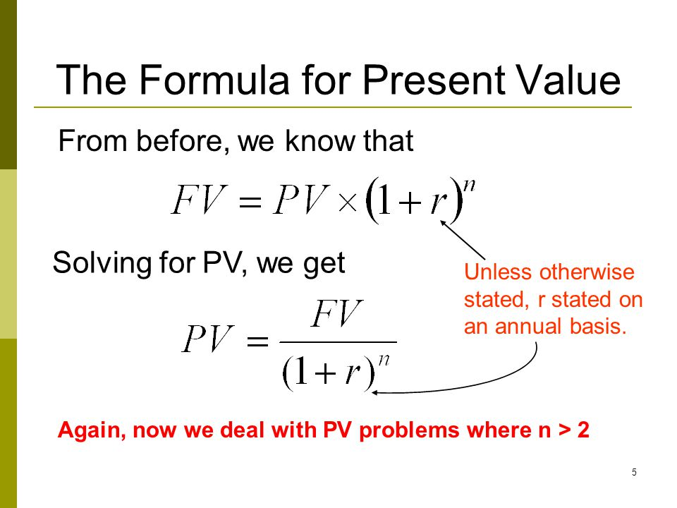 6 Special keys for TVM problems 1.N: Number of periods (e.g., years) 2.I/Y: Interest rate/ discounting rate per period 3.