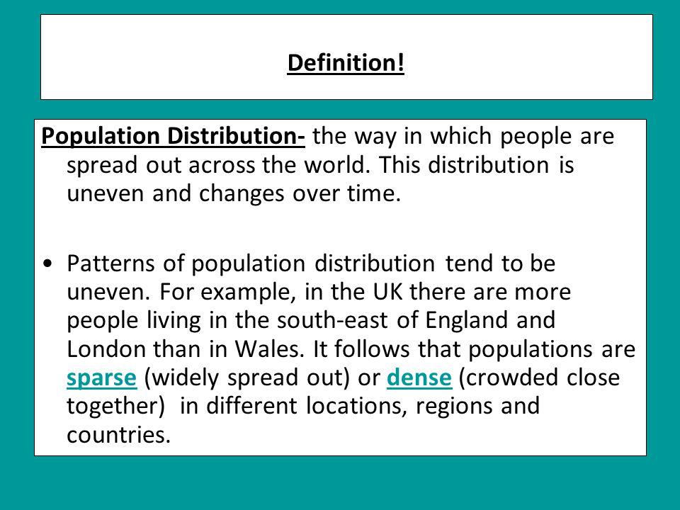Definition.Population density- the average number of people per square kilometre.