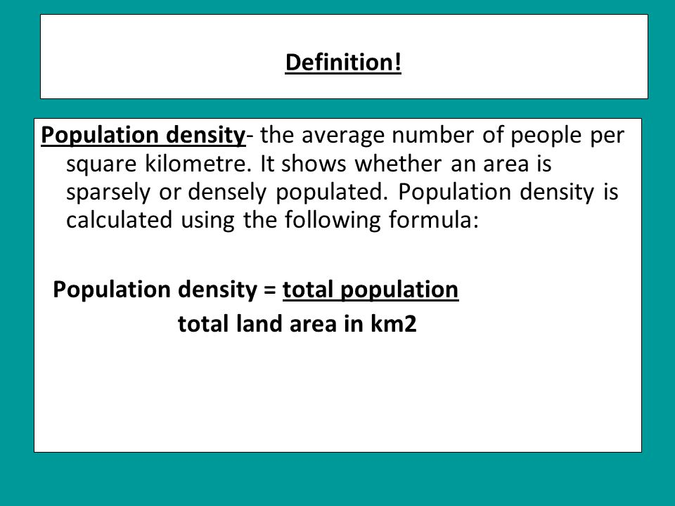 Dot map- world population distribution.
