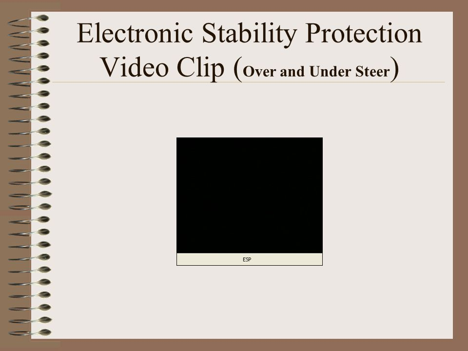 Electronic Stability Protection Video Clip ( Over and Under Steer )