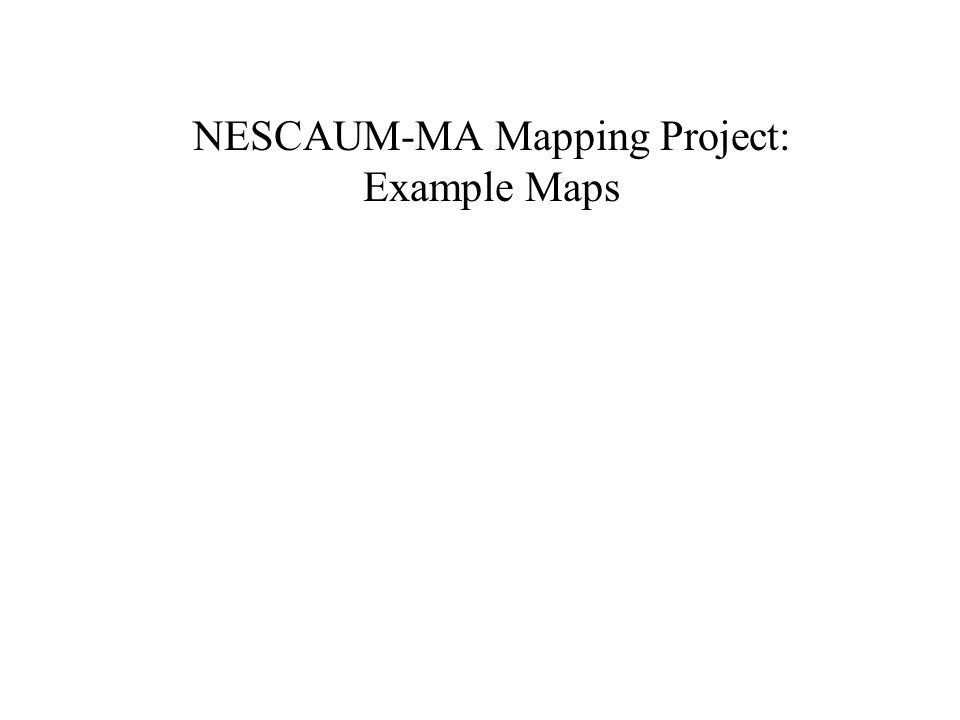 NESCAUM-MA Mapping Project: Example Maps