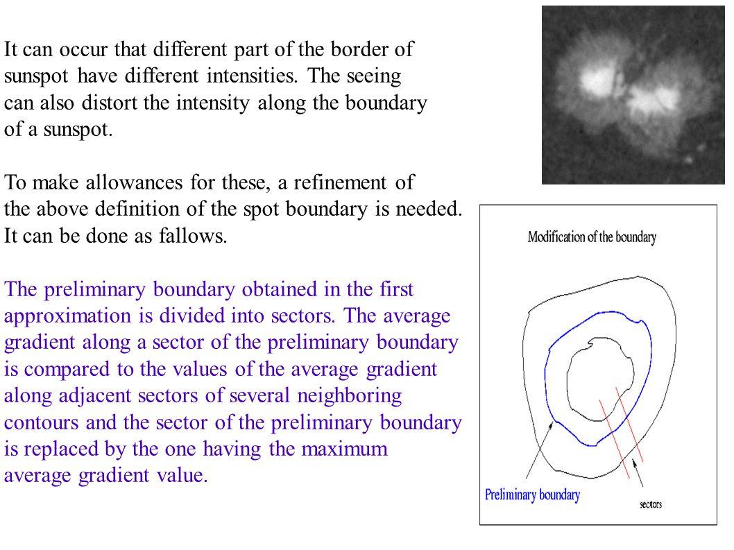 The algorithm: - A copy of the original image is created (I original1 ).