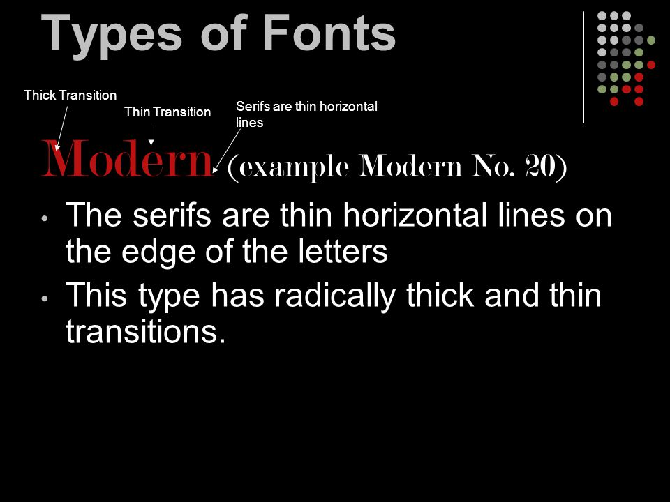 When and how to use fonts Type Alignments Right Align - the right edge of the type is straight and the left edge is uneven Right edge is aligned