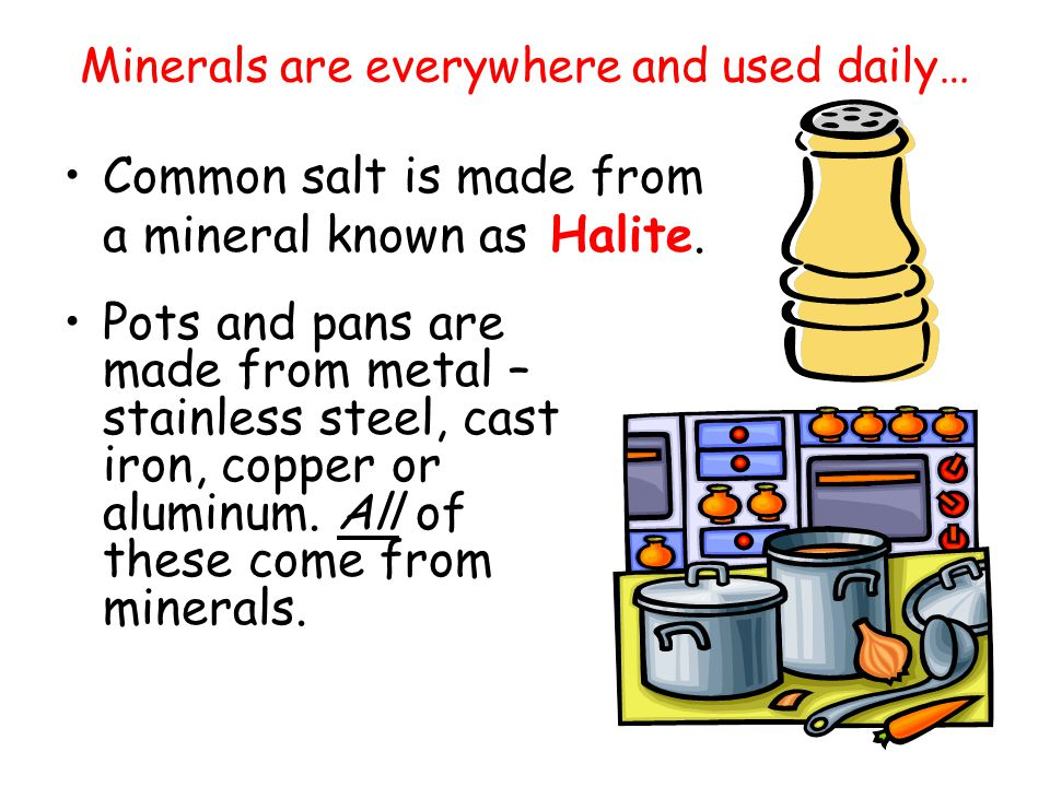 How many different types of minerals are there. Thousands.