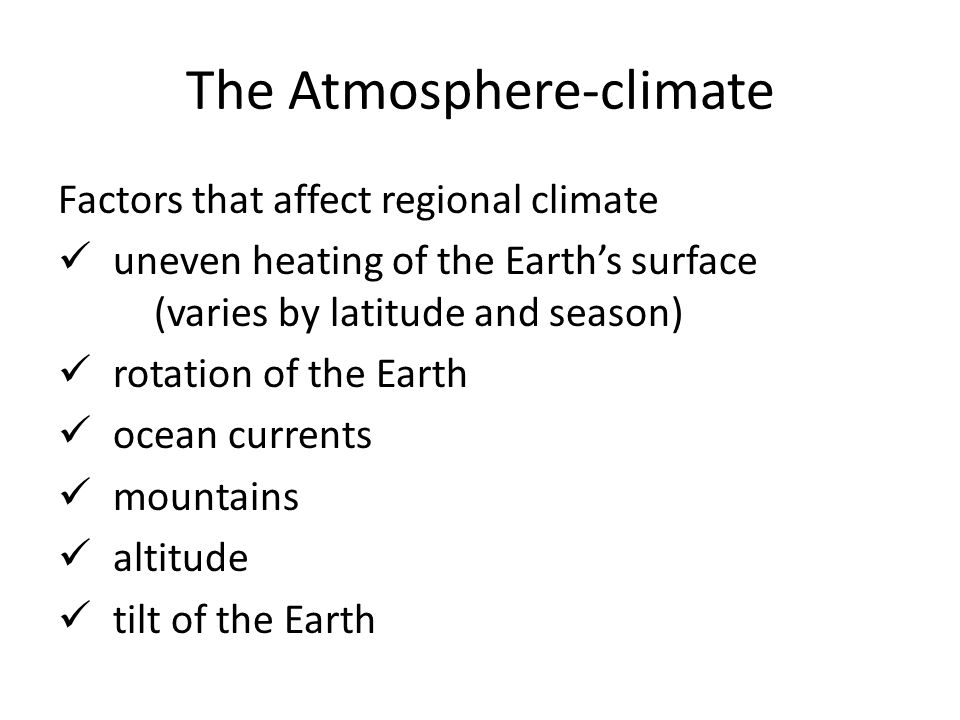 The Atmosphere-weather: temperature