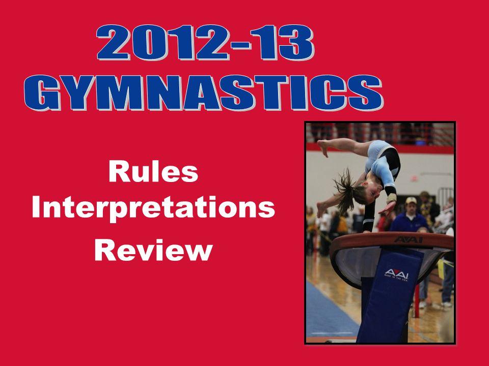 Rules Interpretations Review