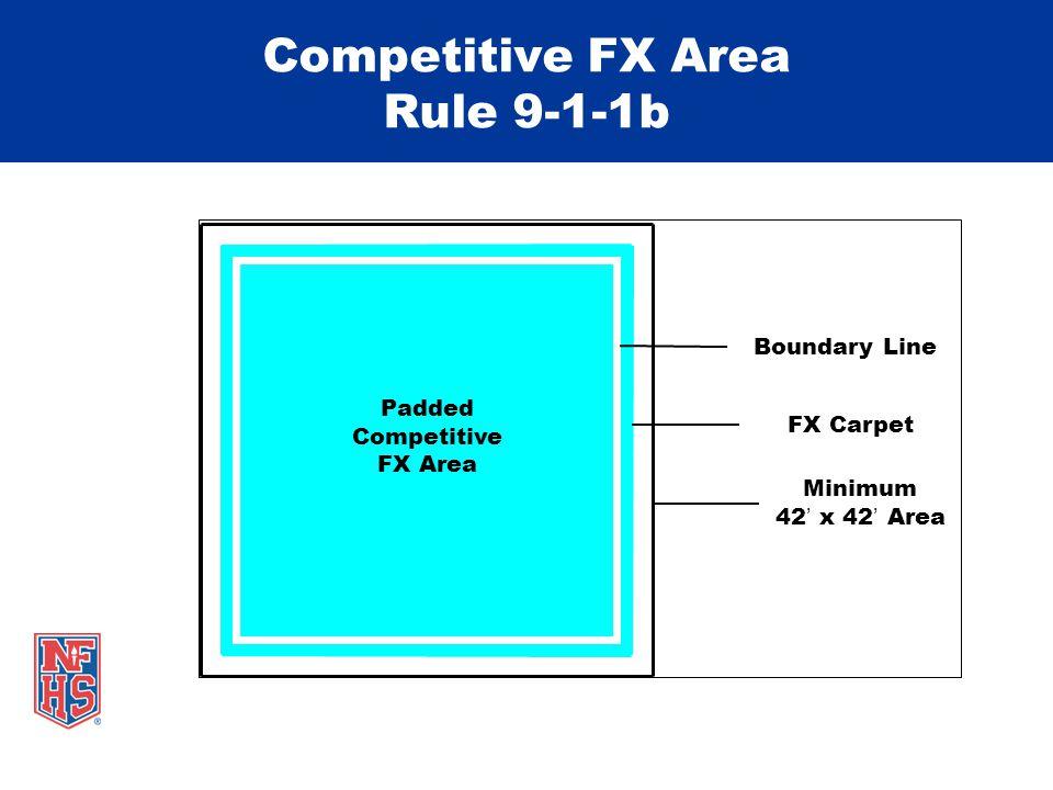 Competitive FX Area Rule 9-1-1b Padded Competitive FX Area Boundary Line FX Carpet Minimum 42' x 42' Area
