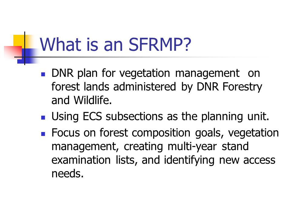 What is an SFRMP.