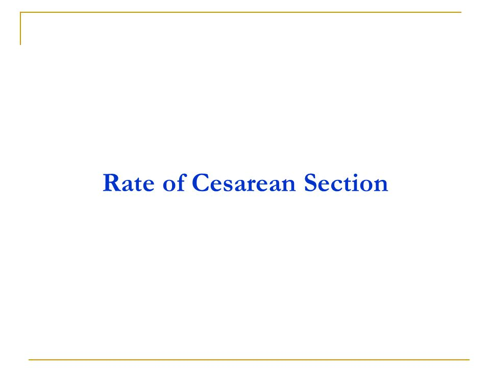 Rate of Cesarean Section