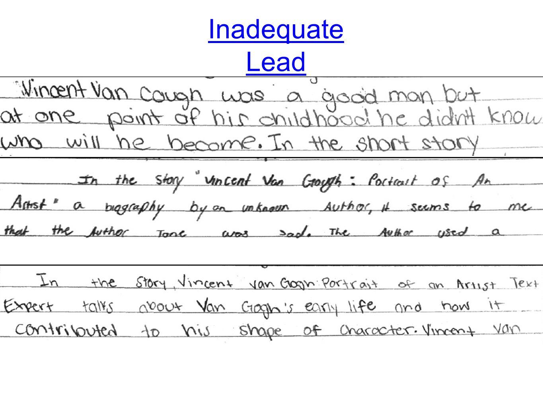 Inadequate Lead