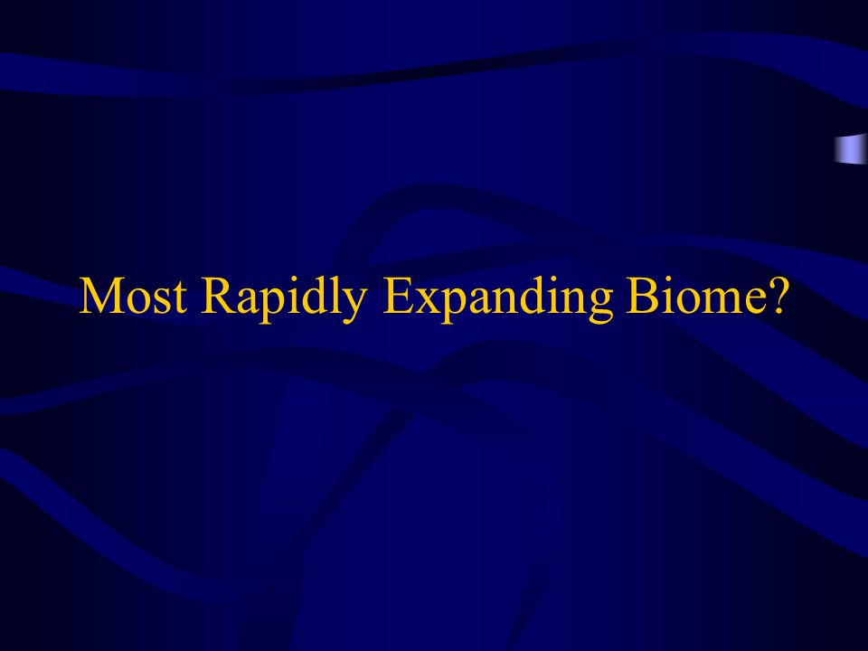 Most Rapidly Expanding Biome