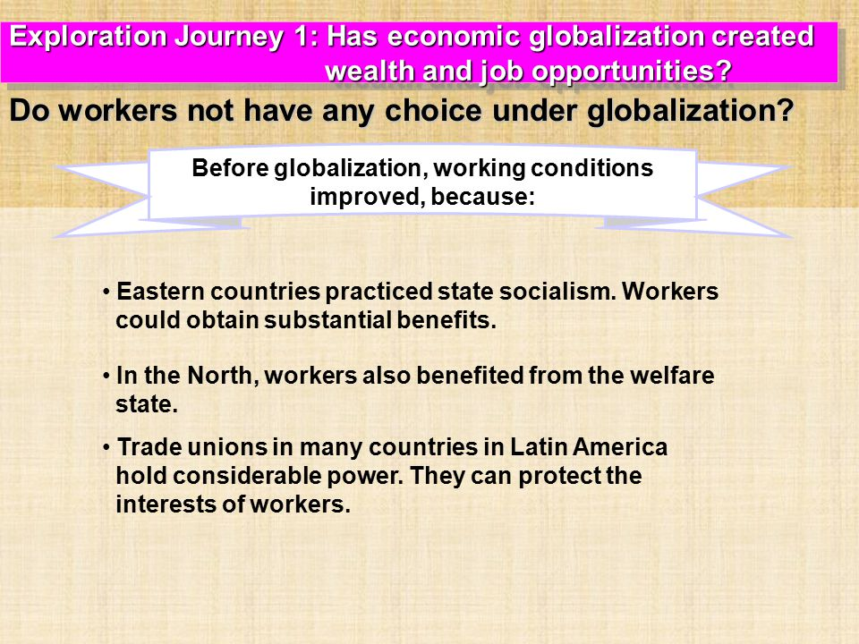 Eastern countries practiced state socialism.Workers could obtain substantial benefits.