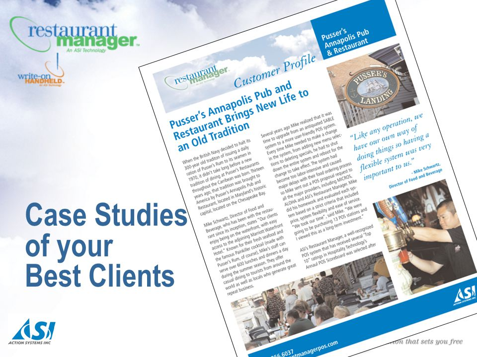 Case Studies of your Best Clients