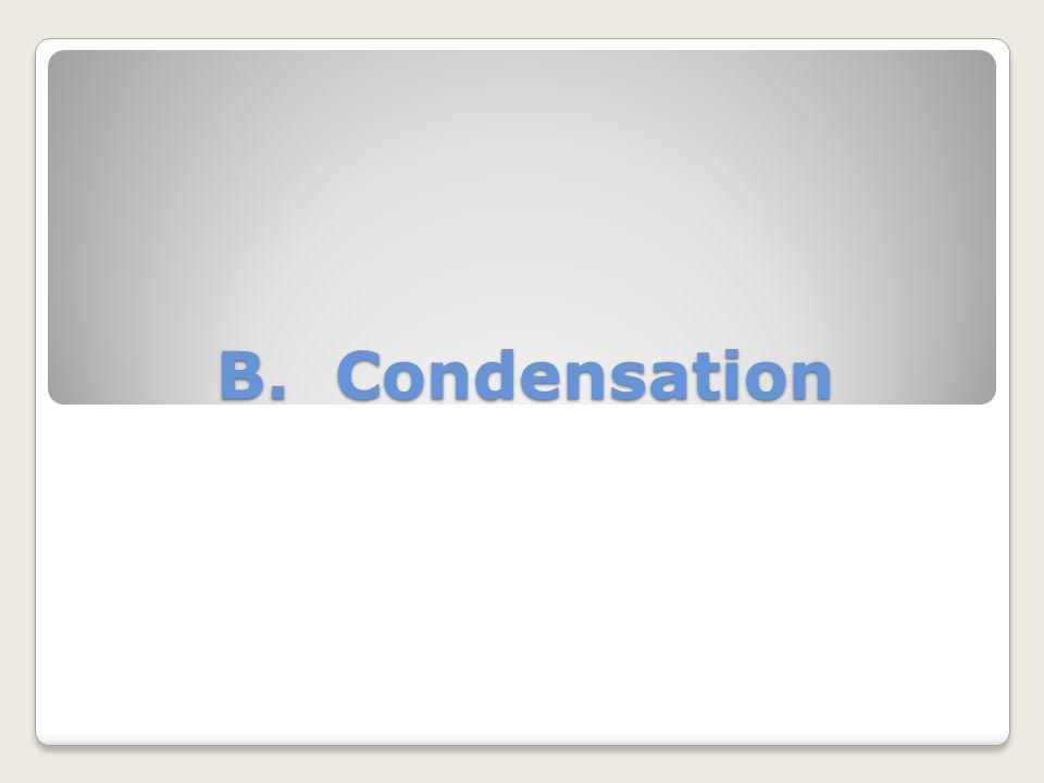 B. Condensation