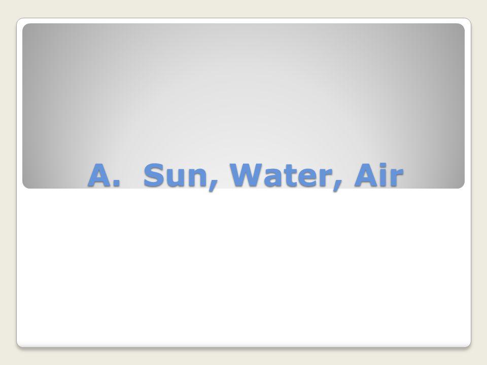A. Sun, Water, Air