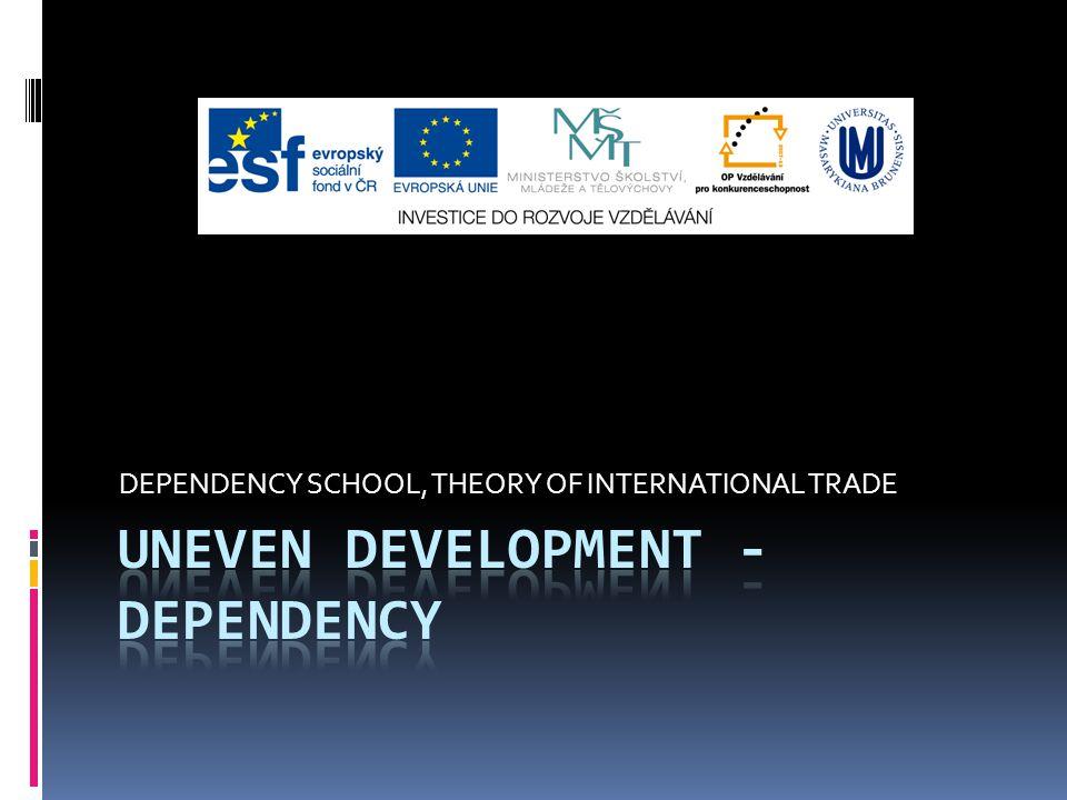 DEPENDENCY SCHOOL, THEORY OF INTERNATIONAL TRADE