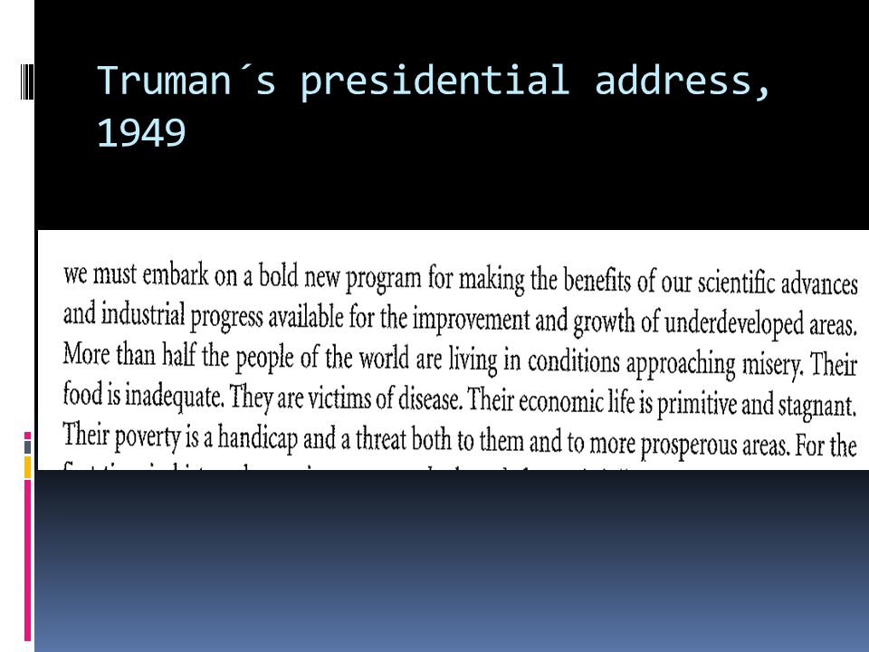 Truman´s presidential address, 1949