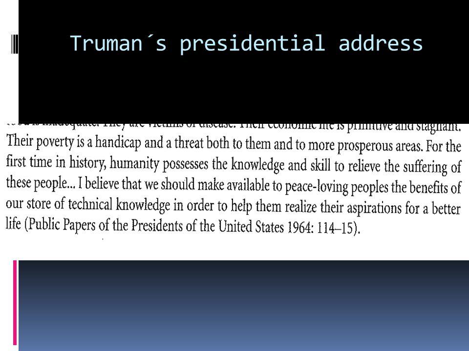 Truman´s presidential address
