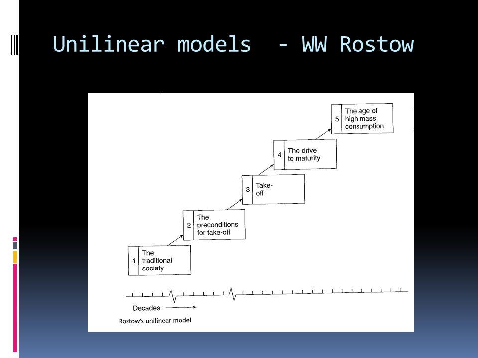 Unilinear models - WW Rostow