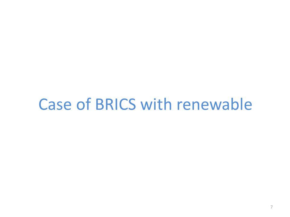 Case of BRICS with renewable 7