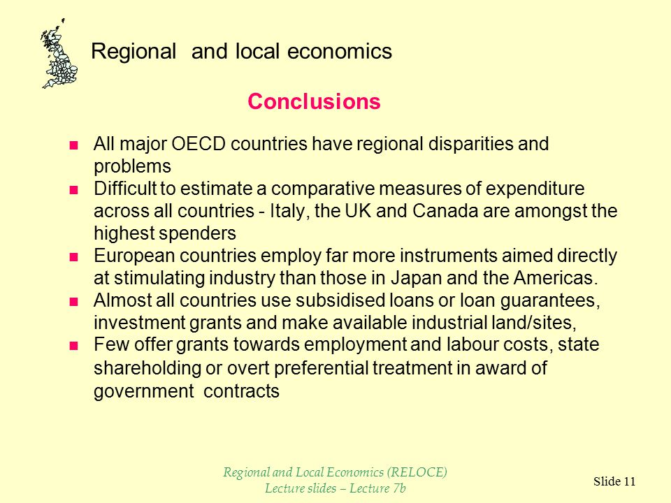 Regional and local economics Slide 10 Regional and Local Economics (RELOCE) Lecture slides – Lecture 7b