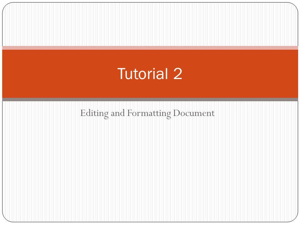 Helpful Keyboard Shortcut Bold: CTRL + B Italic: CTRL + I Underline: CTRL + U Single Space: CTRL + 1 Double Space: CTRL + 2 Select entire document: CTRL + A Cut: CTRL + X Copy: CTRL + C Paste: CTRL + V Key tips: can be displayed by pressing the ALT key.