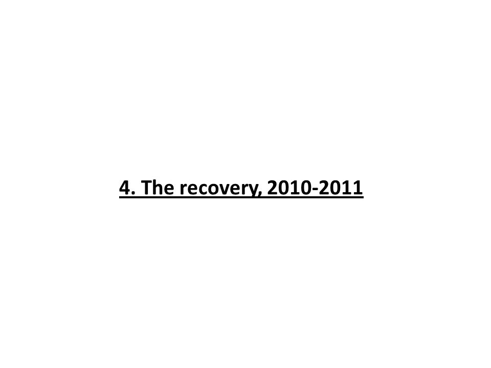 4. The recovery, 2010-2011