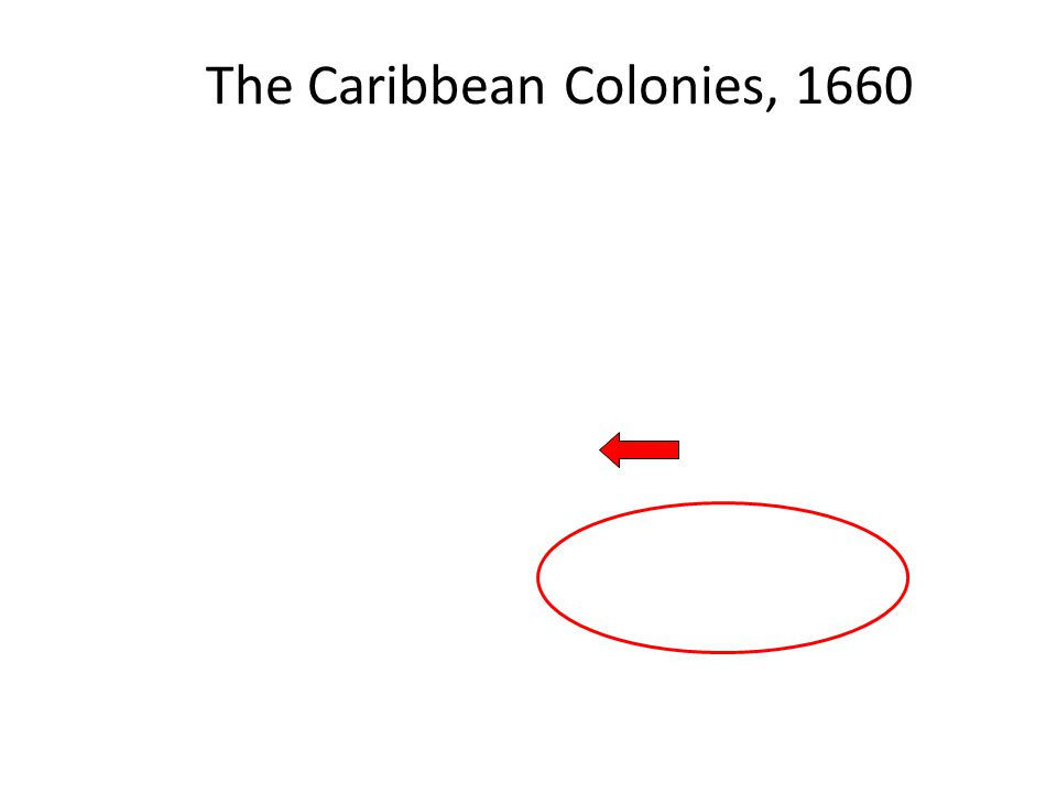 The Caribbean Colonies, 1660