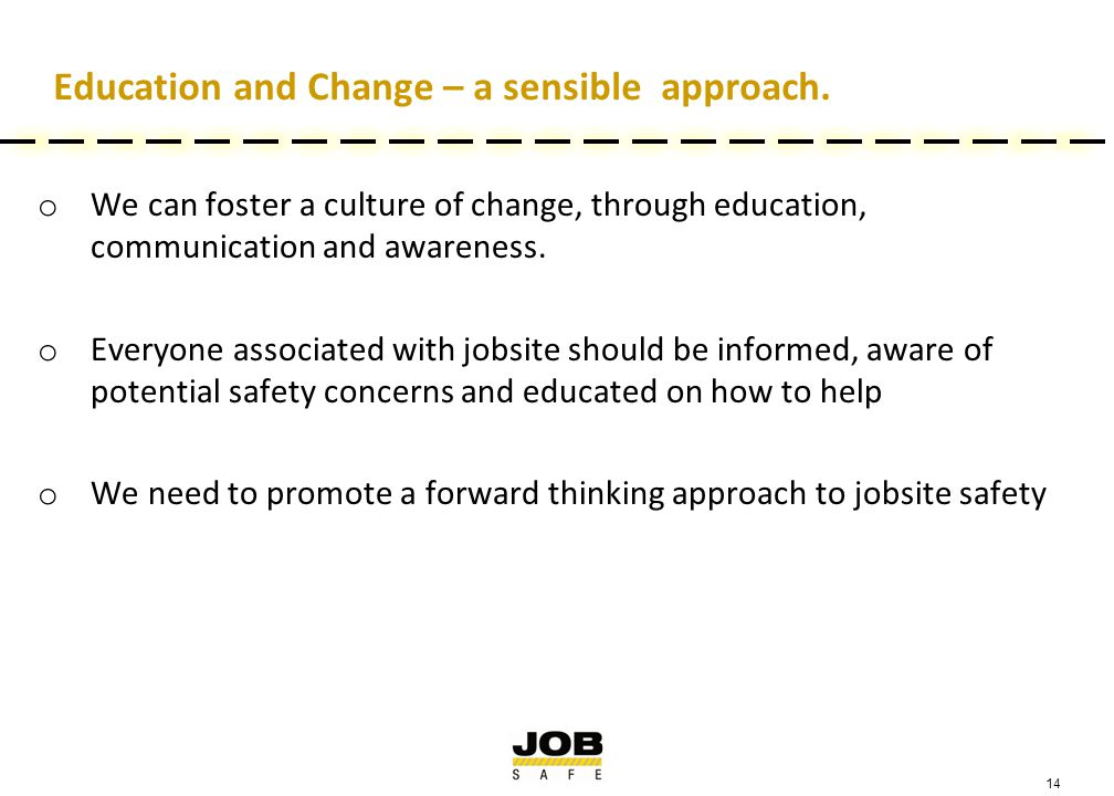 14 Education and Change – a sensible approach.