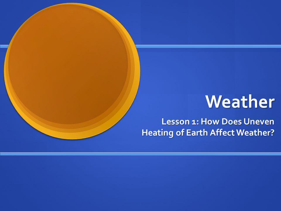 Uneven Heating and Local Winds Cool air is denser than warm air, so it sinks.