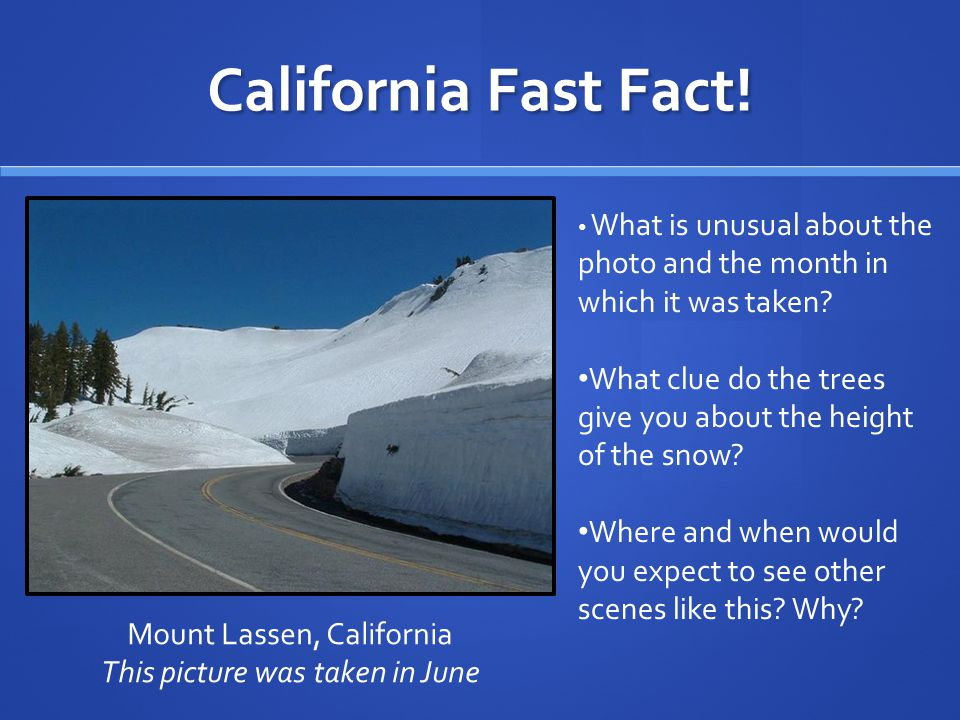California Fast Fact.
