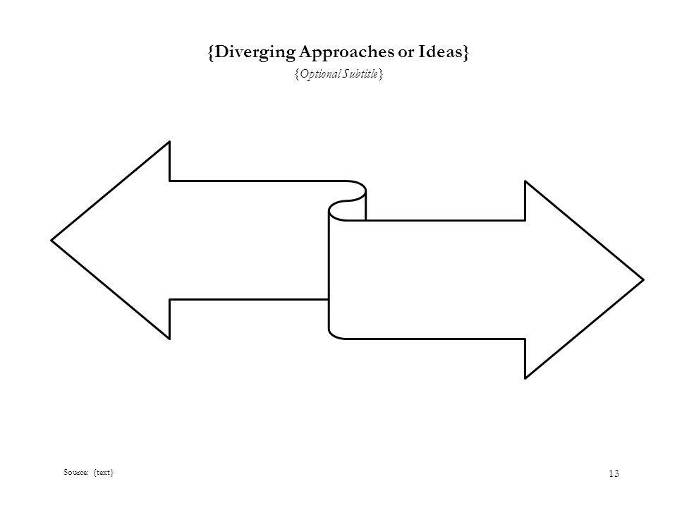 13 {Diverging Approaches or Ideas} {Optional Subtitle} Source: {text}