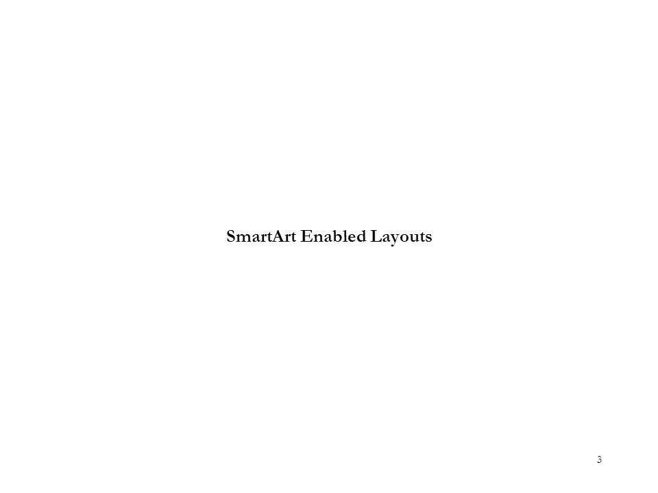 SmartArt Enabled Layouts 3