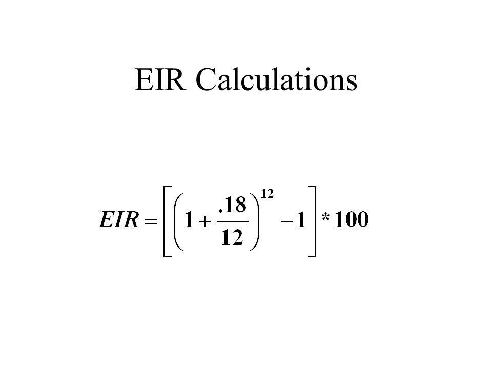 EIR Calculations