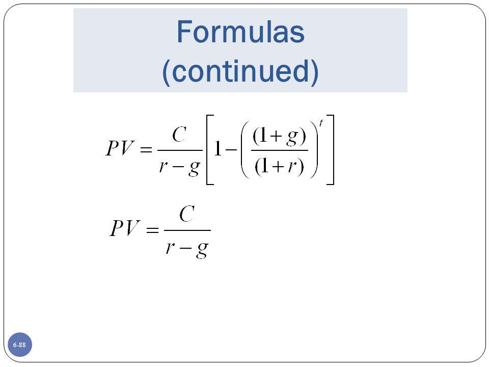 6-88 Formulas (continued)