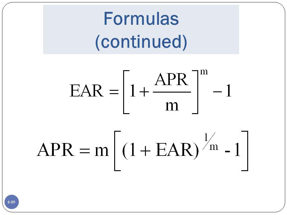 6-89 Formulas (continued)