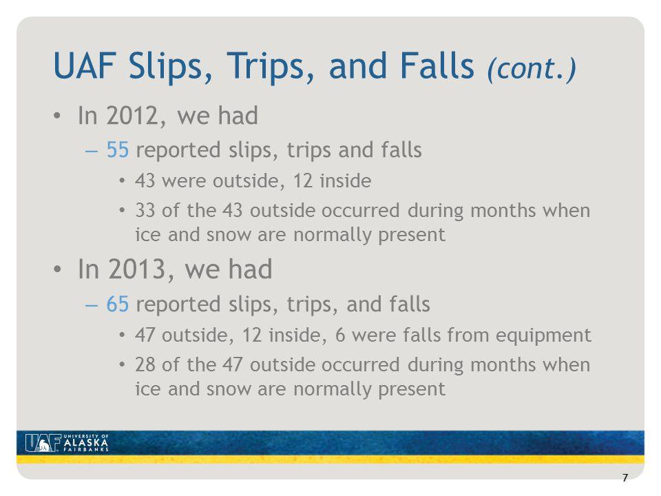 Types of Slip, Trip & Fall Injuries Back and neck injuries Head injuries Muscle injuries Joint injuries Broken bones 18