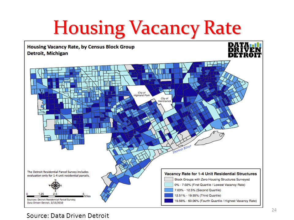 Housing Vacancy Rate 24 Source: Data Driven Detroit