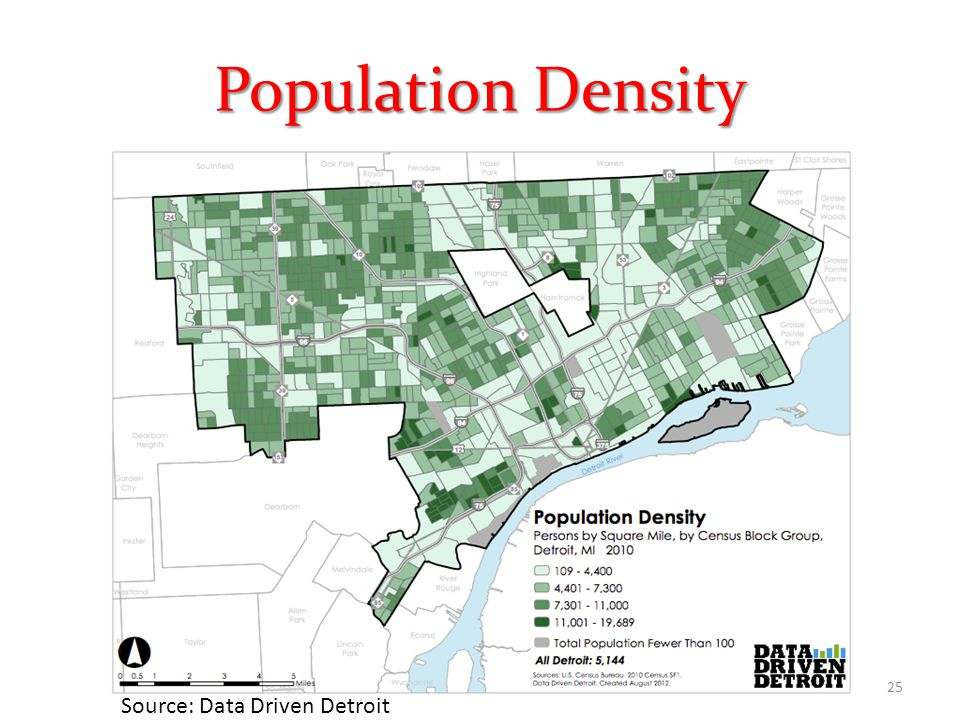 Population Density 25 Source: Data Driven Detroit