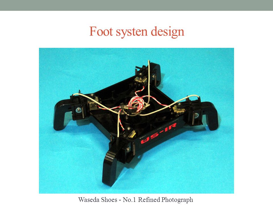 Foot systen design Waseda Shoes - No.1 Refined Photograph