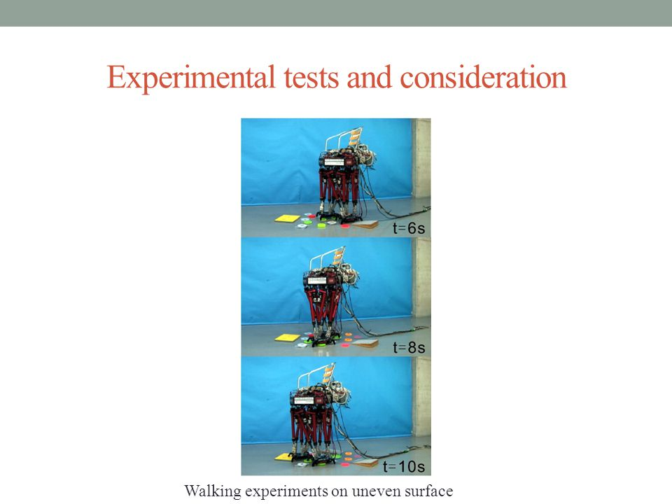 Experimental tests and consideration Walking experiments on uneven surface