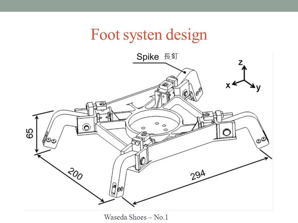 Foot systen design 長釘 Waseda Shoes – No.1