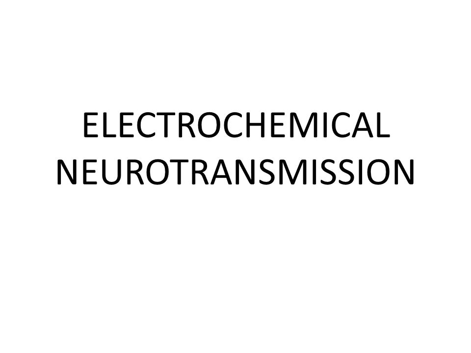 ELECTROCHEMICAL NEUROTRANSMISSION