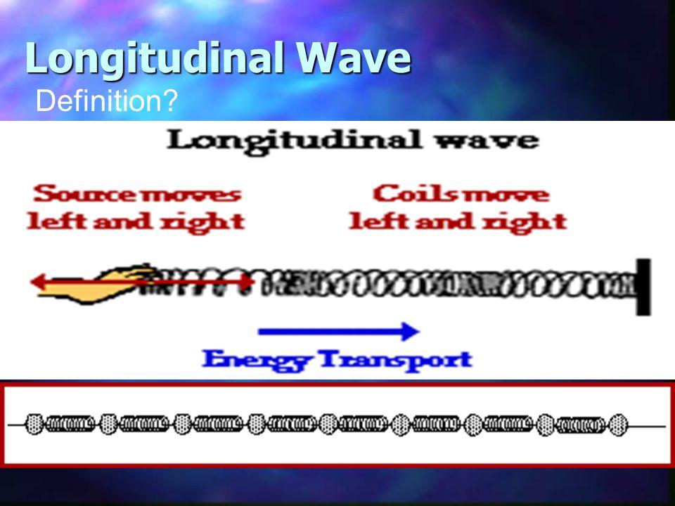 Longitudinal Wave Definition?