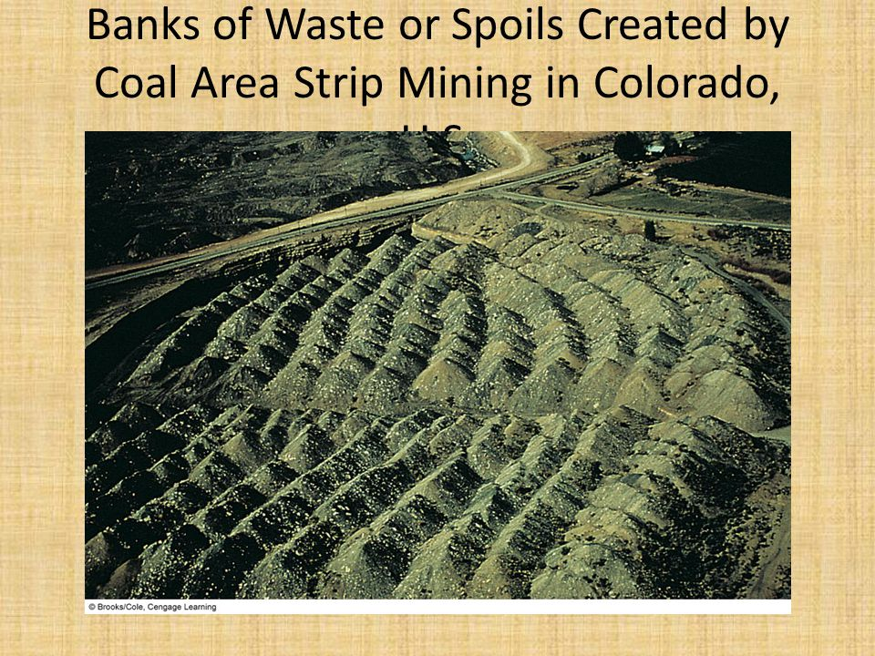 Banks of Waste or Spoils Created by Coal Area Strip Mining in Colorado, U.S.