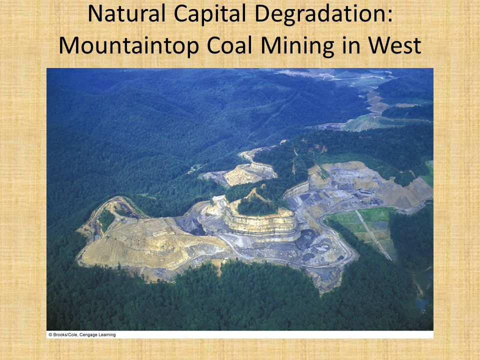 Natural Capital Degradation: Mountaintop Coal Mining in West Virginia, U.S.