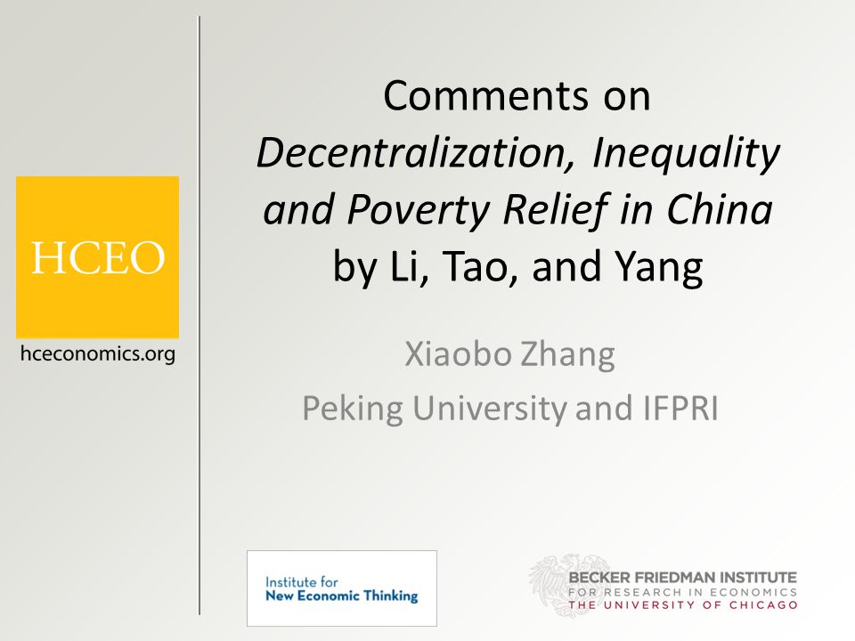 Page 12 Decentralization and Overall Regional Inequality Fan, Kanbur, and Zhang, RDF (2011)