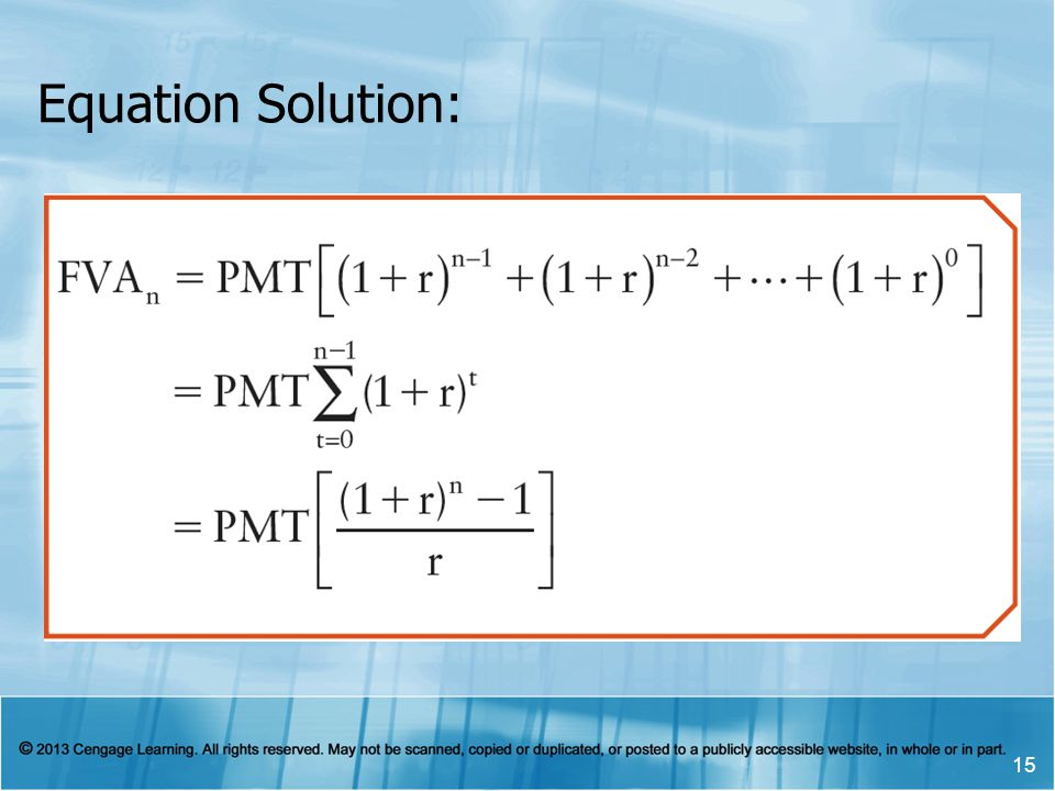 Equation Solution: 15