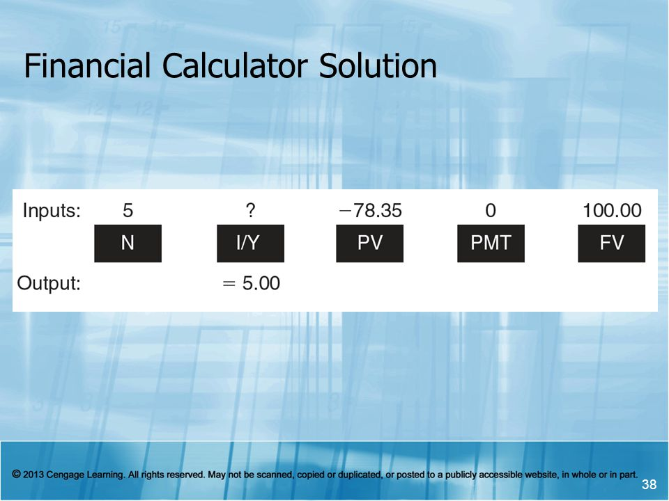 Financial Calculator Solution 38