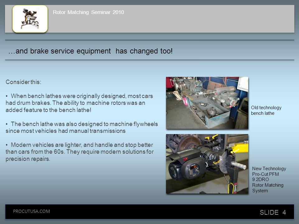 SLIDE 4 PROCUTUSA.COM Consider this: When bench lathes were originally designed, most cars had drum brakes.